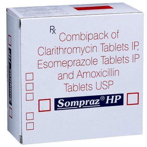 Clarithromycin, Esomeprazole & Amoxicillin Tablet
