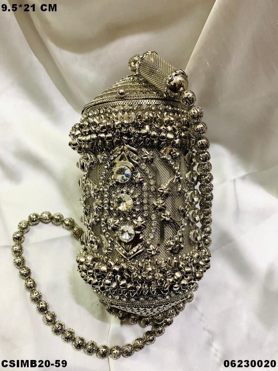 Designer Bridal Metal Clutches
