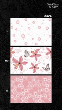 Decorative Attractive Design Low Cost Best Quality 300x450mm Glossy Finished Digital ceramic Wall Tiles For Living Room