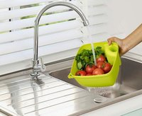 Plastic Wash And Store Basket With Handle