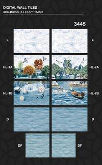 30 x 45cm Colorful Digital Kitchen Wall Tiles