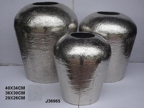 Hammered Aluminium Flower Vase