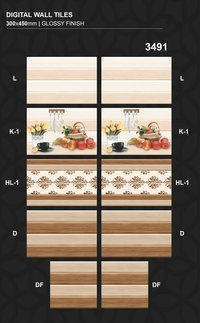 Cheapest price 300x450MM Digital Printing Wall tiles