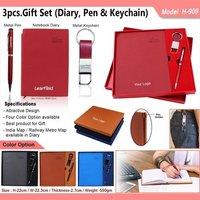 3 in 1 Gift Set - Diary, Pen and Keychain 909