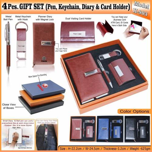 4 in 1 Gift Set - Pen, Keychain, Diary and Card Holder 903