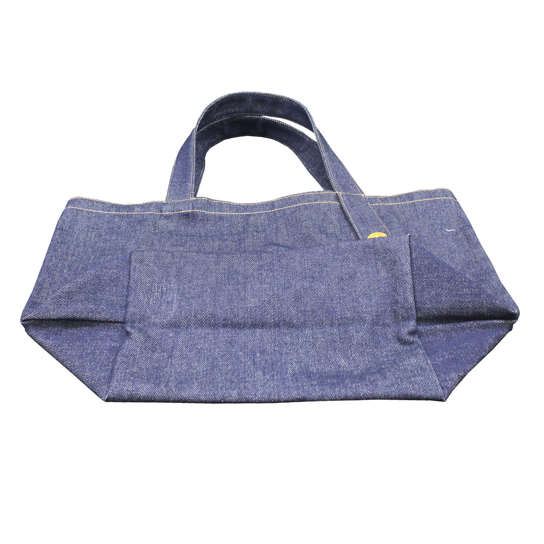 12 Oz Natural Canvas & Denim Tote Bag With Designer Handle