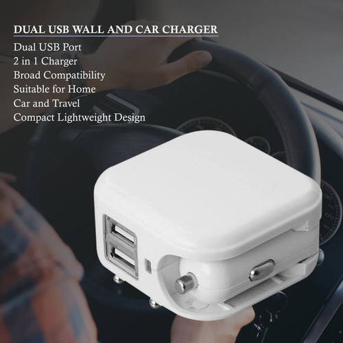 Dual USB Wall and Car Charger