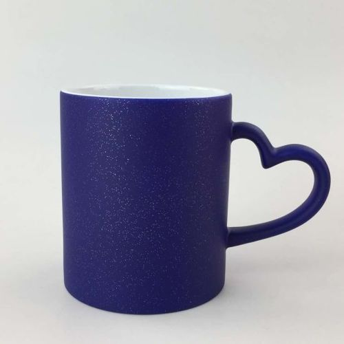 Sublimation Heart Handle Magic Mugs