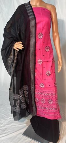 Pure sambalpuri mercerised high quality hand made cotton salwar suit(kurti -2.4 mtrs,width44