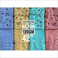 120 Gm Printed Rayon Fabric Top And Bottom