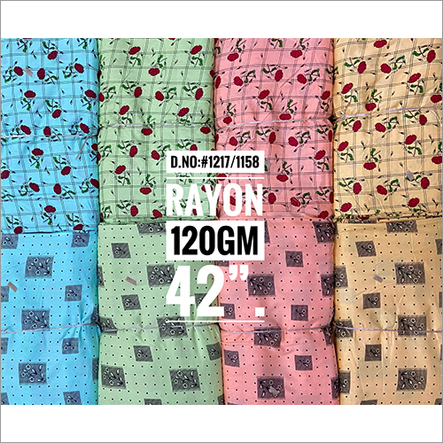 120 GM Printed Rayon Fabric