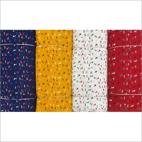 Floral Printed Rayon Kurti Fabric
