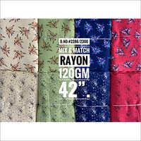 120 gm Mix and Match Rayon printed Fabric