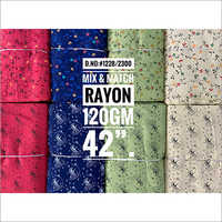 Mix and Match Rayon Printed Fabric