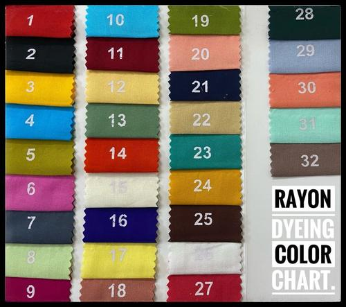 Rayon Plain Dying for all quality