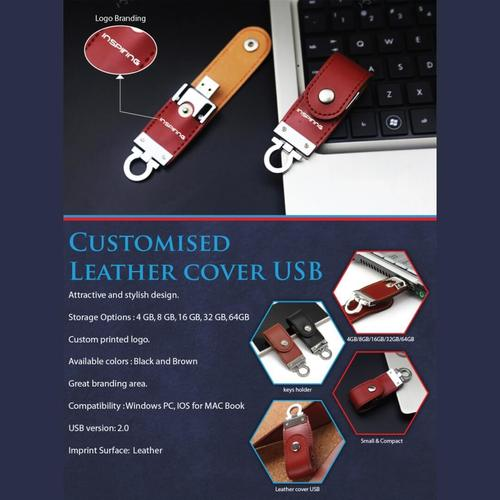 Leather Key Ring USB Pendrive