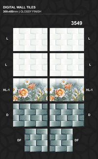 30x45cm Glossy Finished Wall Tiles For Home