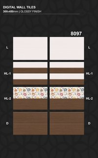 Cheapest price glossy finish  300x450MM Digital Printing Wall tiles