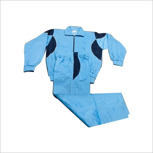 Mens Blue Polyester Tracksuit