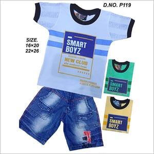 Boys Designer T-Shirt with Shorts Set