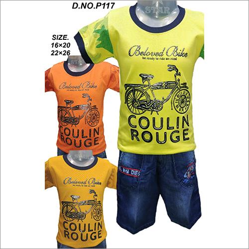 Boys Printed T-Shirt And Shorts Set