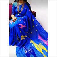 Handloom Printed Cotton Silk Saree