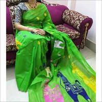 Ladies Trendy Handloom Cotton Silk Saree