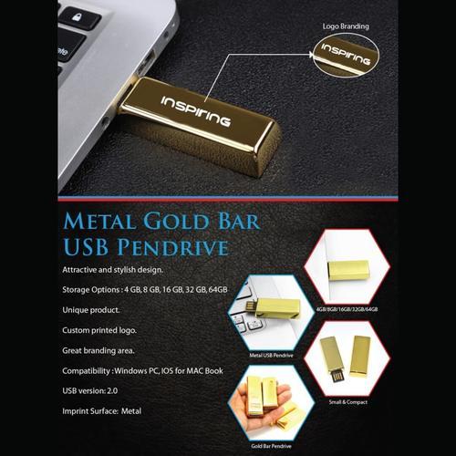 Gold Metal USB Pendrive