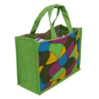 Pp Laminated Dyed Jute Bag With Jute Handle
