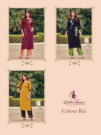 Colour Kit Rayon 14 kg With Embroidery Work Kurti