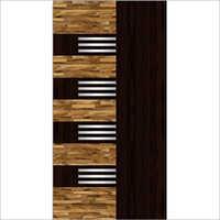 Wooden Textured Door Paper Print