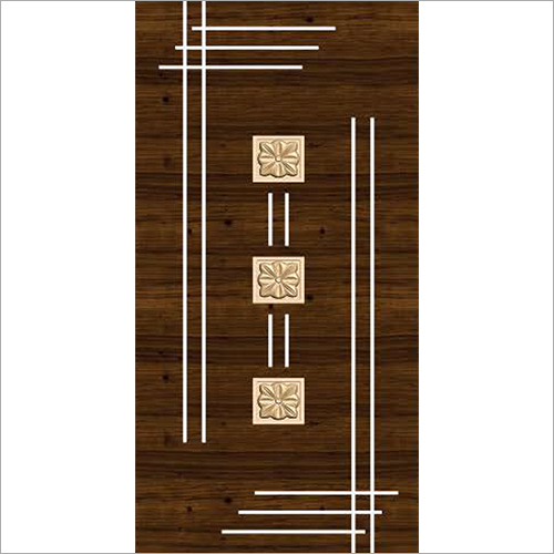 Gloss Wooden Door Paper Print