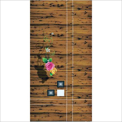 4D Floral Printed Door Skin