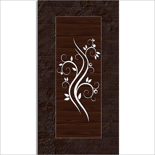 Brown Print Laminated Door Paper