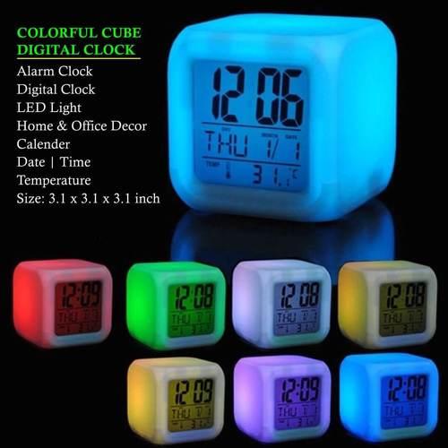 Colorful Cube Digital Clock