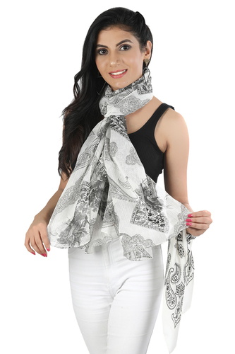 Polyester Chiffon With Lurex Scarves