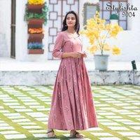 Stylishta vol 09 Muslin Long Gown Type Kurti