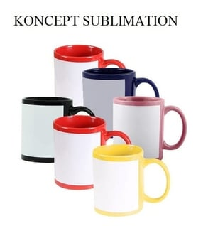 Sublimation Patch Mugs Blue Black Red and Others