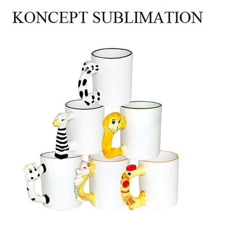 Sublimation Kids Animal Mugs