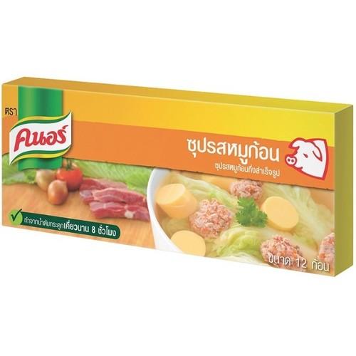 Knorr pork cubes flavored instant soup, 12 cubes