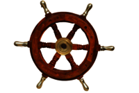 Nautical Wooden Ship Wheel 12 Inch With Brass Handle Wooden Ship Wheel For Home Decor, Wall Decor Boat And Ship,