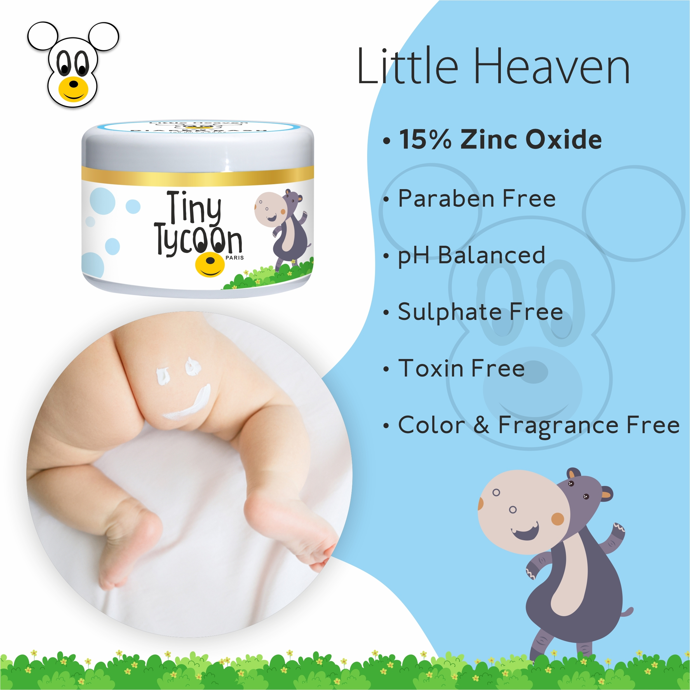 Tiny Tycoon Paris Baby Diaper Rash Cream