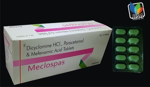 Dicyclomine HCL, Paracetamol &  Mefenamic Acid Tablets