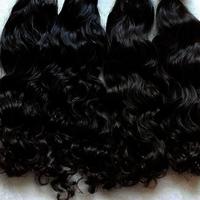 Virgin Wavy Human Hair Extensions / 100% Temple Human Hair