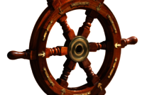 Nautical Wooden Ship Wheel 15 Inch With Brass Anchor Wooden Ship Wheel For Home Decor