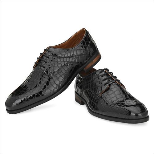 Men Black Leather Party Wear Shoes