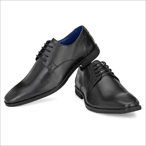 Men Black Pu Leather Formal Shoes
