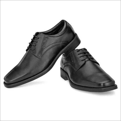 Men Black Genuine Leather Shoes