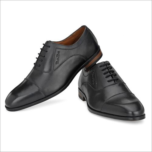 Mens Black Milled Leather Formal Shoes