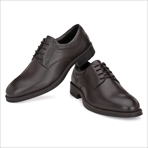 Men Brown Leather Lace Up Formal Shoes